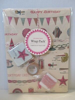 new - Cavallini & Co - WRAP PACK - Celebrations Birthday - paper , gift tags etc