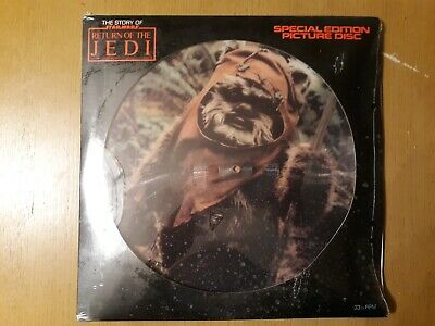 Vintage Star Wars 1983 ROTJ Special Edition Picture Disc 33 1/3 RPM Sealed AFA?