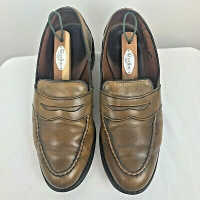 2658bfb28e7 Allen Edmonds Mens Shoes 10.5 D Brown Randolph Penny Loafers Slip On Dress  4838