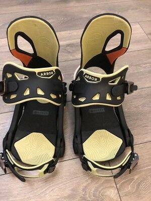 Arbor Cypress Snowboard Bindings Size L  - Excellent Condition