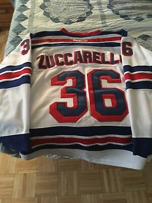 Men s REEBOK Blue and WHITE New York Rangers jerseys USED Zuccarello Nash f74c69789