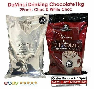 DaVinci Premium White Drinking Chocolate 1kg & DaVinci Drinking Chocolate 1kg