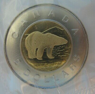 RCM - 1997 - $2 - Polar Bear ( Frosted Bear ) - Proof Like - Uncirculated