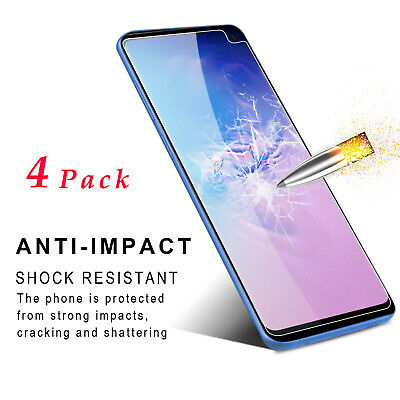 4 Pack Premium Tempered Glass Screen Protector For Samsung Galaxy S10e/S10 Lite