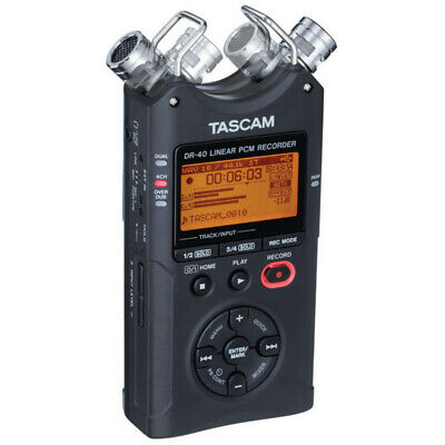 Tascam DR-40 Version 2 Portable Four Track Handheld Audio Recorder