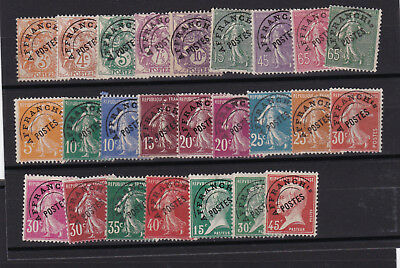 France  25 timbres  PREO , sans gomme , TB