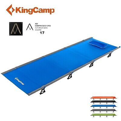 KingCamp Ultralight Folding Camping Cot Sleeping Bed Ground Military Pillow