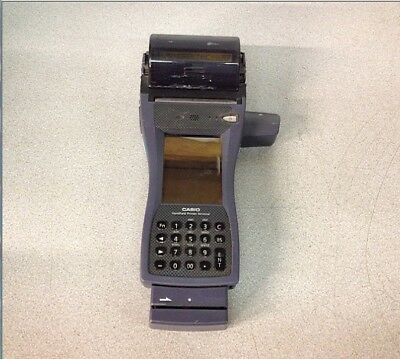 Casio IT-3000M55U Handheld Scanner/ Printer Terminal W/ Card Readers No AC Adap