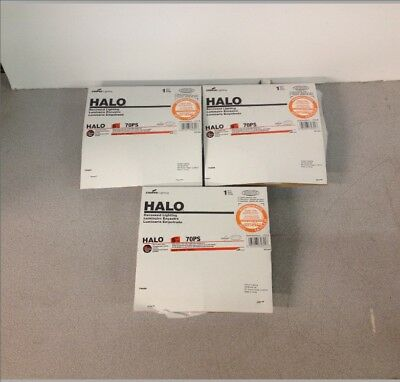 """QTY3 Lot Halo 70PS 6"""" Recessed Trim White Polymer Ring Frosted Glass Albalite"""
