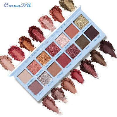 14 Colors Waterproof Shining Eye Shadow Palette Powder Matte Eyeshadow mh95