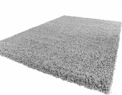 Deluxe Silver Grey Dense  Thick Long Pile Shaggy Rug nonShed Runner Floor Rug Ne