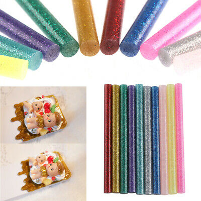 10pcs/set New Diy Craft Album Art Adhesive Stick Heating Glue Hot Melt Glitter