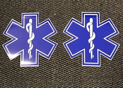 Magnet sign Star Of Life x2 Pair  Event First Aid Medic Ambulance 220mm SOL