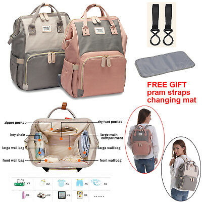 Baby Diaper Nappy Changing Hospital Mummy Bag Rucksack Large Maternity Backpack