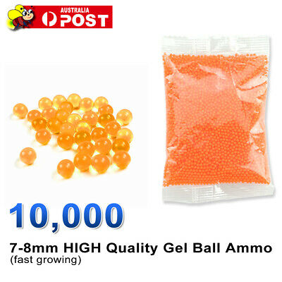 Blaster Gun 10000-20000 Hardened Bullet Water Gel Balls Bear 7-8mm Ammo Toy AU