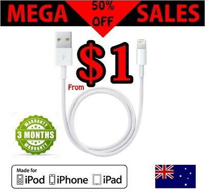 2m 1m 20cm USB Lightning Cable Data for Apple Charging Cord iPhone X 6 iPad mini