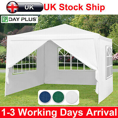 Waterproof Outdoor Garden Heavy Duty Gazebo Marquee Canopy Party Tent With Side