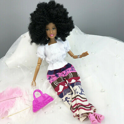 12 Joints Moveable African Girl Dolls Model For  Dolls Accessory 31cm1
