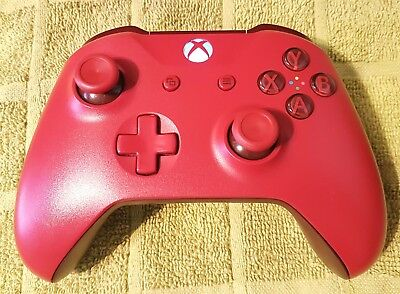 Red Microsoft Xbox One Wireless Controller S. Genuine official product.