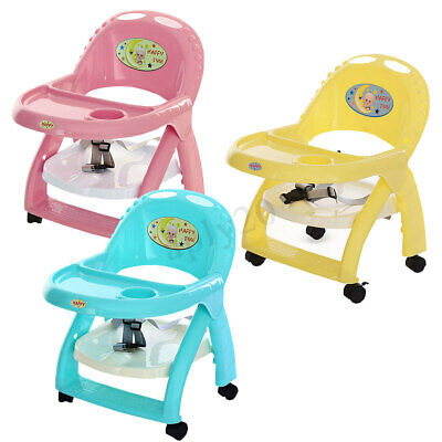 Baby Eating Feeding Table Seat Toddler Portable Booster Chair Foldable Walker AU