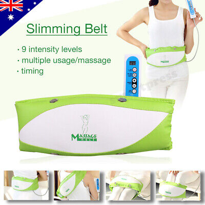 Slimming Toning Massage Belt Vibration Heat Massager Abs Stomach Waist Fitness