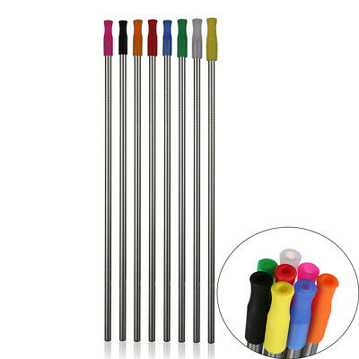 Silicone Tips Stainless Steel Bar Accessories Drinking Straws Metal Straw