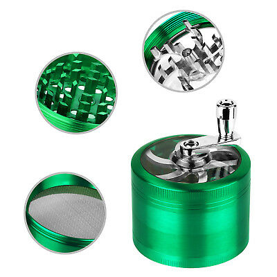 """4 Piece 2.5"""" Herb Grinder Crusher for Tobacco Zinc Alloy Hand Muller Spice Aqua"""