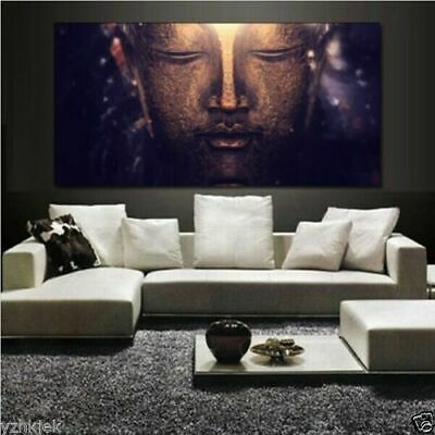Hand-painted canvas modern art abstract art painting Buddha mural (no frame)