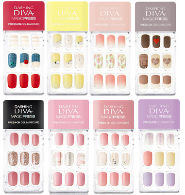 DASHING DIVA Magic Press On GEL NAIL Tip 2019 S/S NEW Slim Fit [Hello, Sweetie]