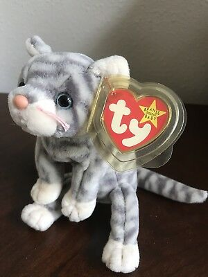 1aee32296 TY BEANIE BABY - SILVER the Cat (5.5 inch) - MWMTs Stuffed Animal ...
