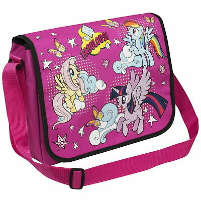 My Little Pony Girls Shoulder Messenger Bag School Satchel Lunch Trips Books NEW