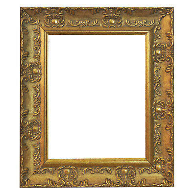 WIDE Ornate GOLD Shabby Chic Antique Swept Museum Style MUSE Picture Photo Frame