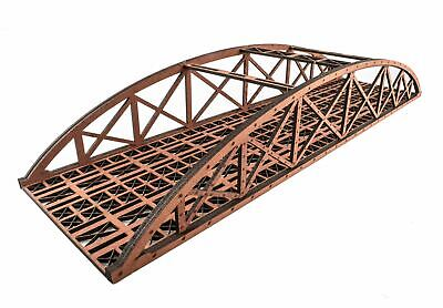 WWS Double Track Hi-Detail Red Bowstring Bridge 560mm – OO/HO Model Railway