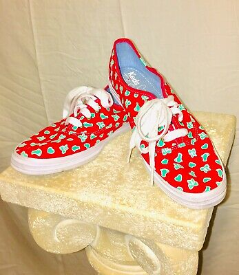 WOW!! Taylor Swift Pink Keds Tennis Shoes sneakers Ladies 8 Cats Hearts And Bows