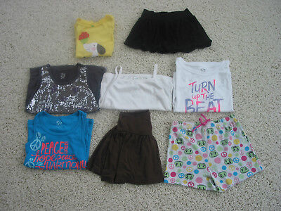 Girls size 7/8 clothes 8 piece mixed lot skirts tops