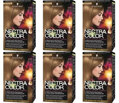 BULKBUY 6x Nectra Color 845 Permanent Hair Dyes Brown Praline Blonde * BBE04/17