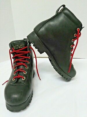 Vintage Italian Pivetta Black Leather Hiking/Mountaineering Boots Size 6D Men's