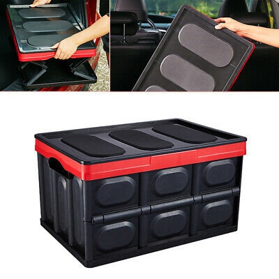 30L Multi-function Car Trunk Box SUV Move Storage Box Tool Pack Oversized Sturdy