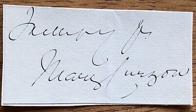 Baroness Mary Curzon, Vicereine of India Autograph