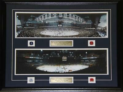 Toronto Maple Leafs Gardens Air Canada Center Last First Game NHL Hockey Frame