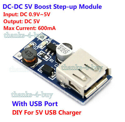 DC Converter Battery Boost Voltage Charger 1.5V 3V 3.7V to 5V USB Power Module