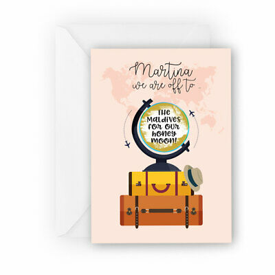 Surprise Trip Reveal Scratch Card with custom holiday destination & name