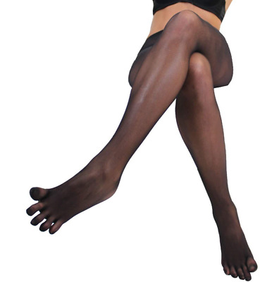 bd41fb40a7e3a Women Men Sexy Pantyhose Seamless Sheer 5 Fingers Separate Toe Tights Black