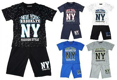 Boys T-Shirt Shorts New York Tee Brooklyn NY Outfit Summer Kids Set 2 to 8 Years