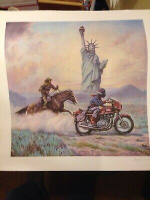 hand signed Artist Proof Gregory Perillo ride to liberty color lithograph print