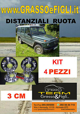 kit 4 Distanziali Ruota Mercedes Classe G 460 461 463 5x130 3cm Wheel Spacer