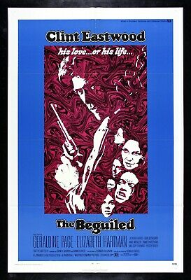 THE BEGUILED ✯ CineMasterpieces ORIGINAL CLINT EASTWOOD MOVIE POSTER 1971