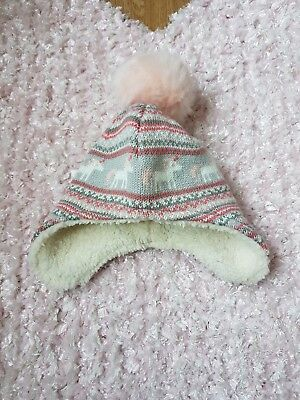 cf487589714 ASDA GEORGE BABY Hat - 9-12 Months - Blue Brown Stripe - 24lbs 11kg ...