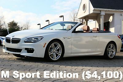2018 BMW 6-Series 640i xDrive Convertible M Sport Edition 2018 640i xDrive Convertible M Sport Edition White Auto AWD Like New Perfect
