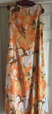 Vintage Kitty Copeland Floral Maxi Dress